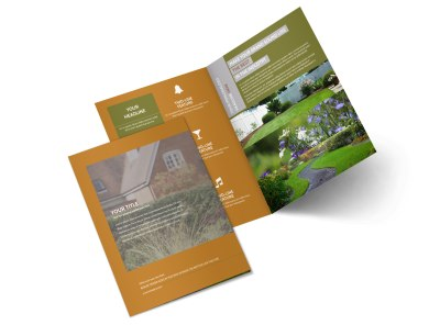 Curb Appeal Landscape Bi-Fold Brochure Template preview