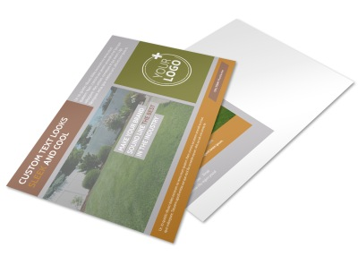 Curb Appeal Landscape Postcard Template preview
