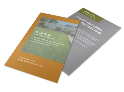 Curb Appeal Landscape Flyer Template preview