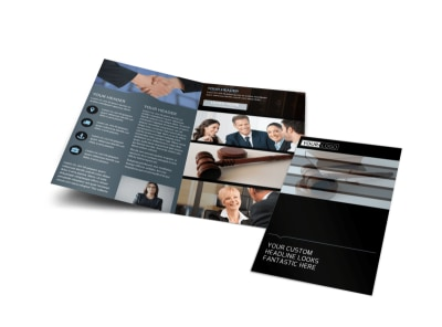 Law Office Bi-Fold Brochure Template preview