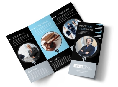 Family Law Attorney Tri-Fold Brochure Template preview