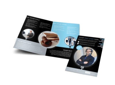 Family Law Attorney Bi-Fold Brochure Template
