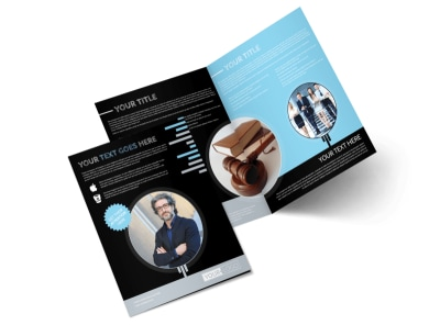 Family Law Attorney Bi-Fold Brochure Template preview