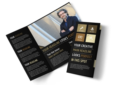 Private Law Firms Tri-Fold Brochure Template