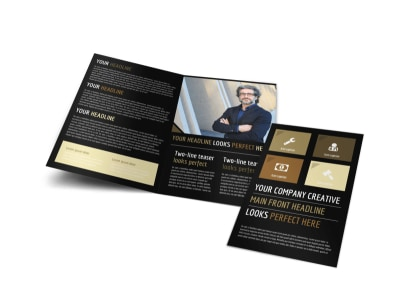 Private Law Firms Bi-Fold Brochure Template