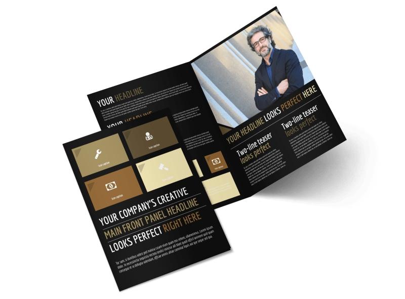 Private Law Firms Bi-Fold Brochure Template