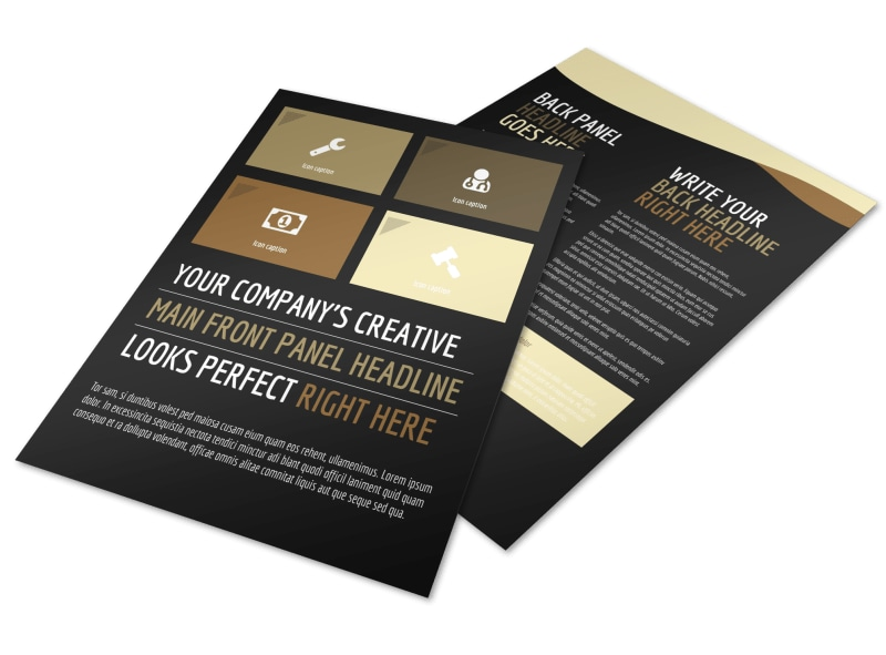 Private Law Firms Flyer Template