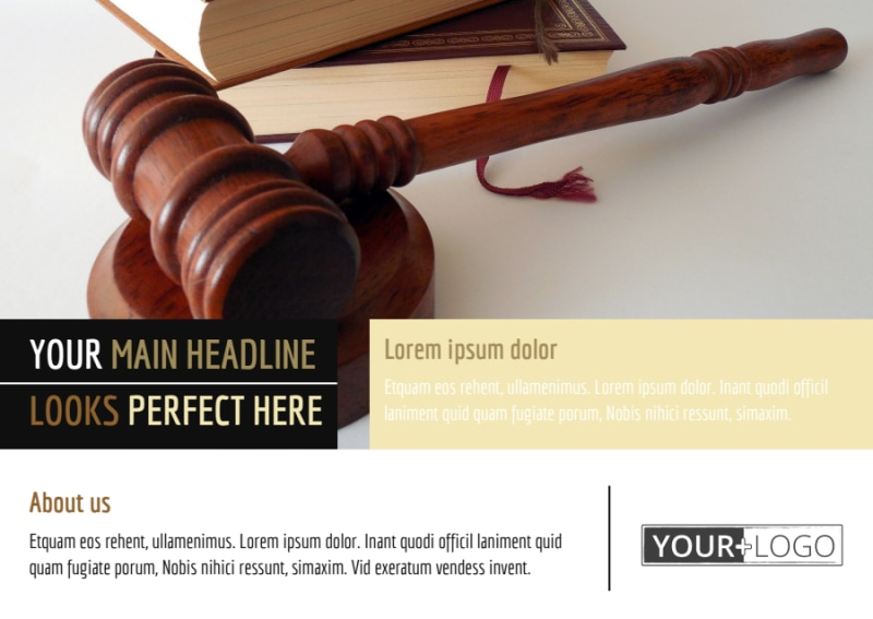 Private Law Firms Postcard Template Preview 2