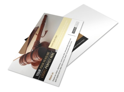 Private Law Firms Postcard Template preview