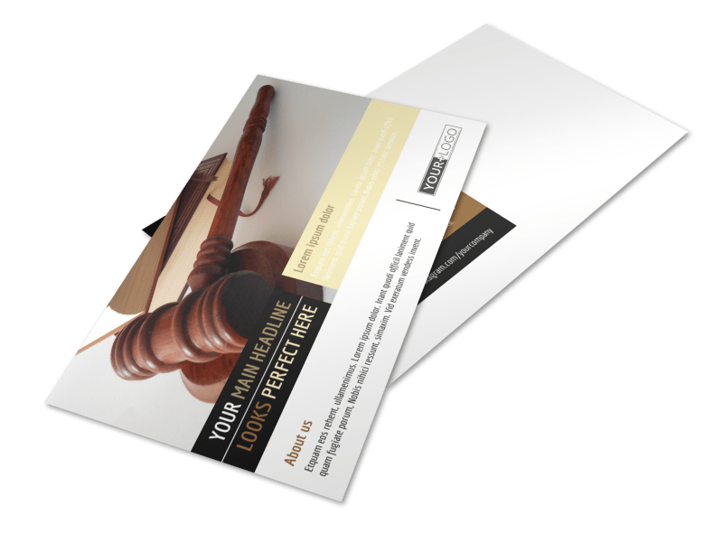 Private Law Firms Postcard Template Preview 1