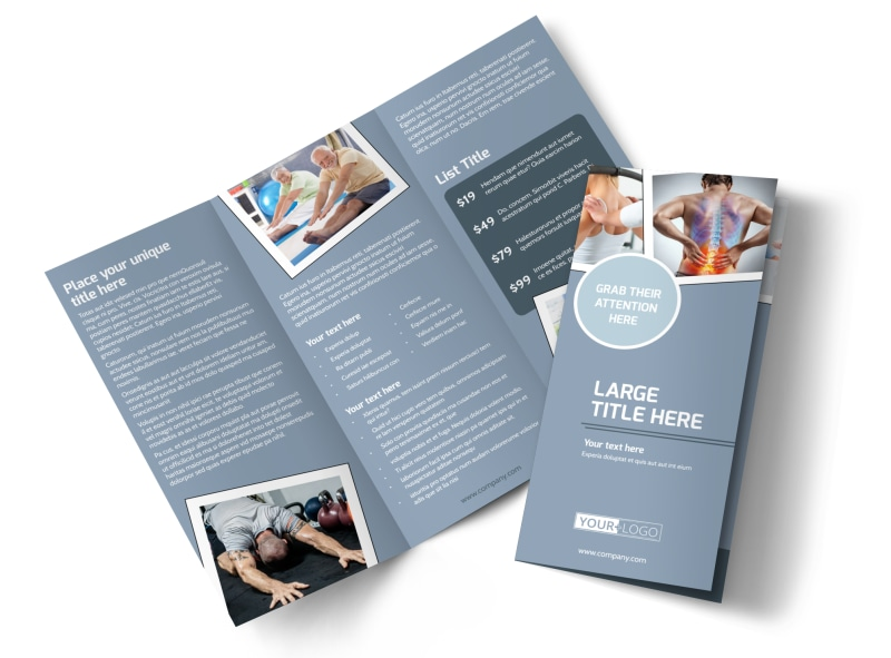 Orthopedics & Sports Medicine Tri-Fold Brochure Template