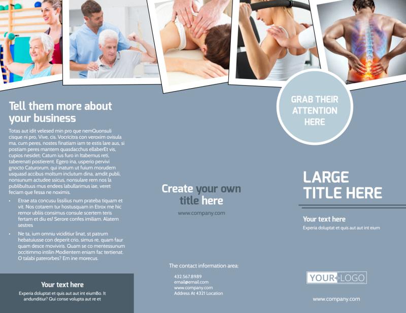 Orthopedics & Sports Medicine Brochure Template Preview 2