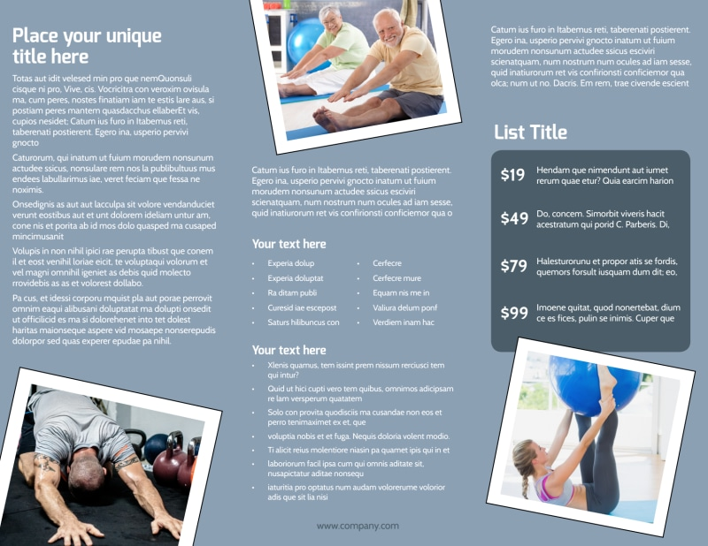 Orthopedics & Sports Medicine Brochure Template Preview 3