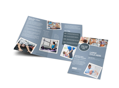 Orthopedics & Sports Medicine Bi-Fold Brochure Template