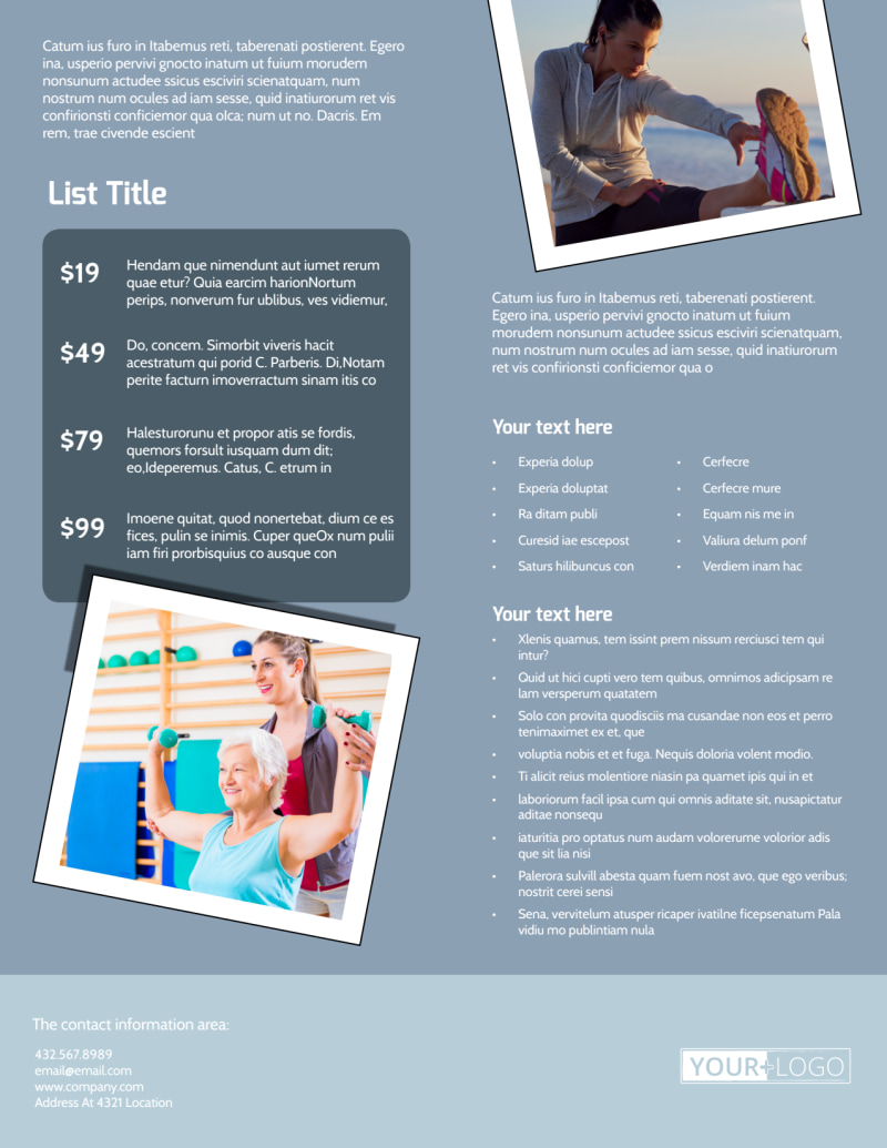 Orthopedics & Sports Medicine Flyer Template Preview 3