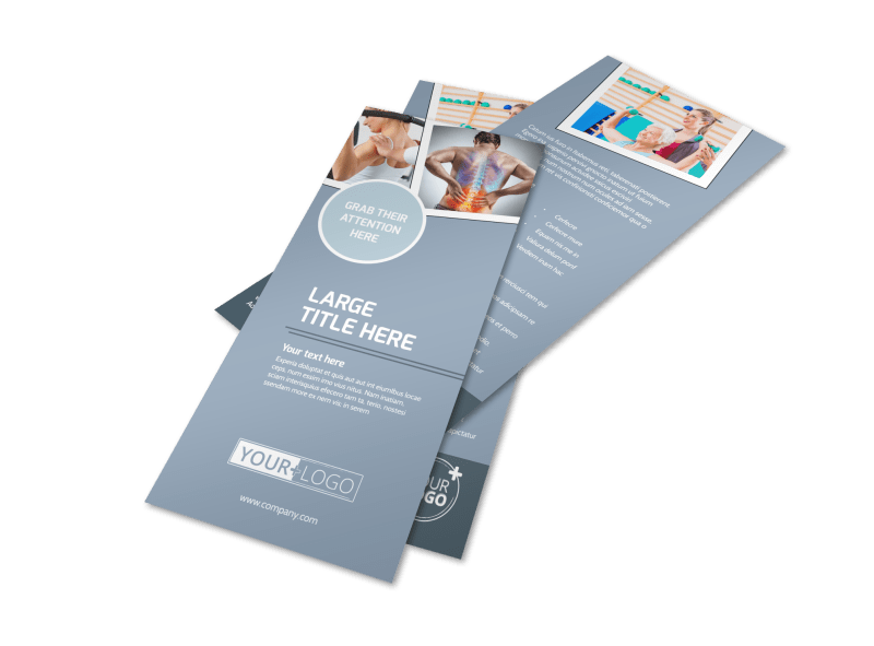 Orthopedics & Sports Medicine Flyer Template Preview 1