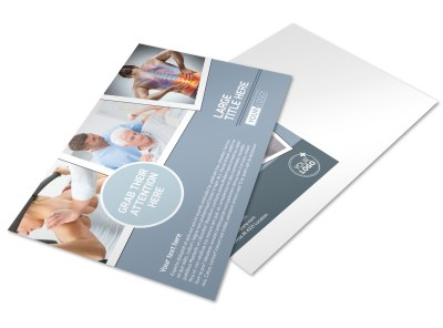Orthopedics & Sports Medicine Postcard Template preview