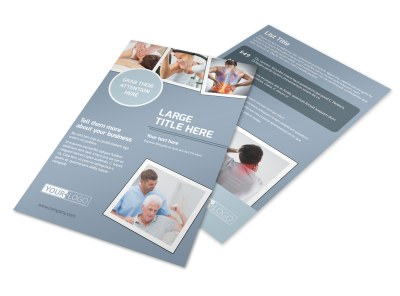 Orthopedics & Sports Medicine Flyer Template preview