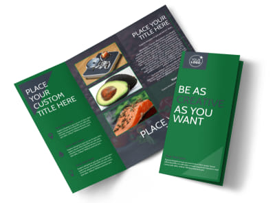 Nutritional Consultant Tri-Fold Brochure Template preview