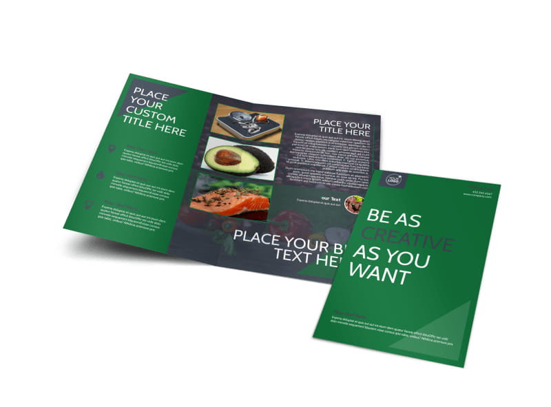 Nutritional Consultant Bi-Fold Brochure Template