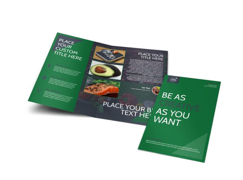 Nutritional Consultant Bi-Fold Brochure Template