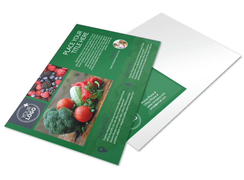 Nutritional Consultant Postcard Template