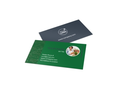 Nutritional Consultant Business Card Template preview
