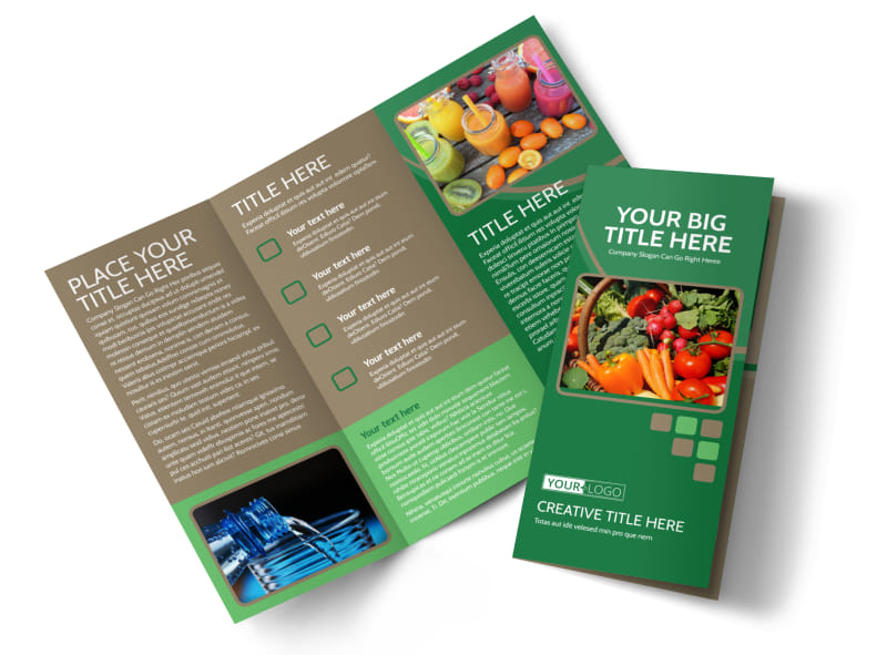 Diet & Nutrition Experts Tri-Fold Brochure Template