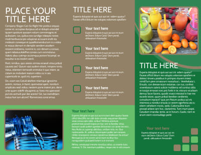 Diet & Nutrition Experts Brochure Template Preview 2