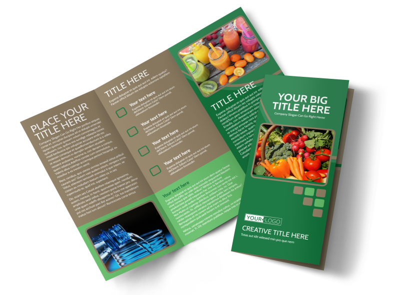 Diet & Nutrition Experts Brochure Template Preview 1