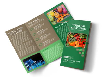 Diet & Nutrition Experts Tri-Fold Brochure Template preview