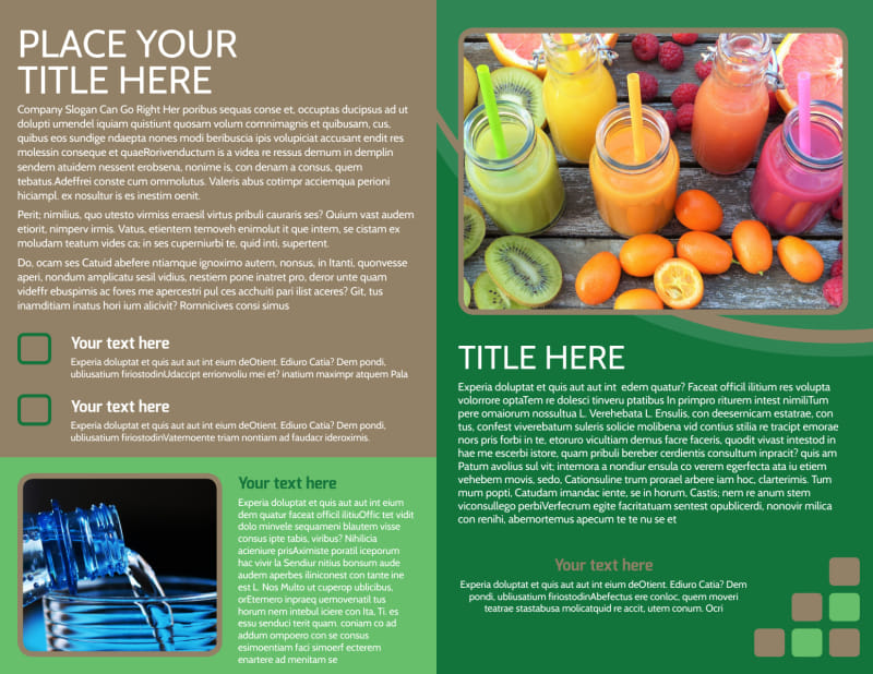 Diet & Nutrition Experts Brochure Template Preview 3