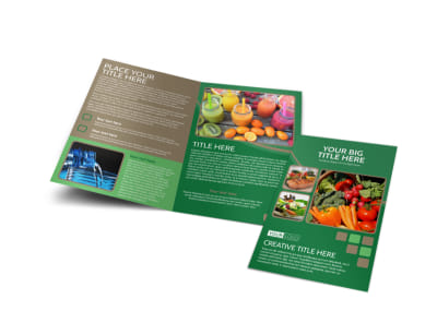 Diet & Nutrition Experts Bi-Fold Brochure Template preview