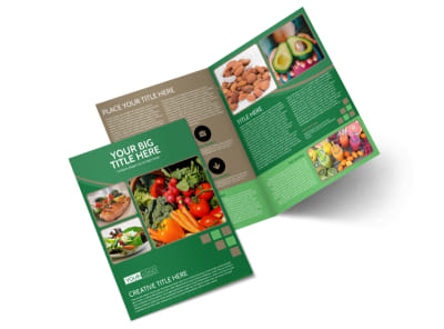 Diet & Nutrition Experts Bi-Fold Brochure Template