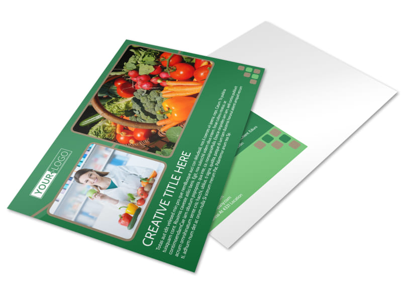 Diet & Nutrition Experts Postcard Template