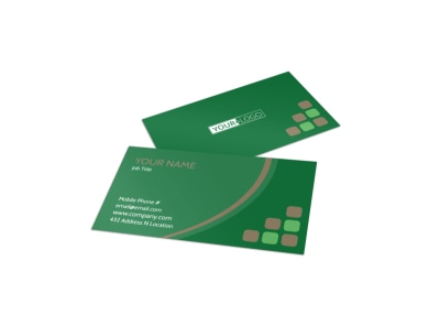 Diet & Nutrition Experts Business Card Template preview