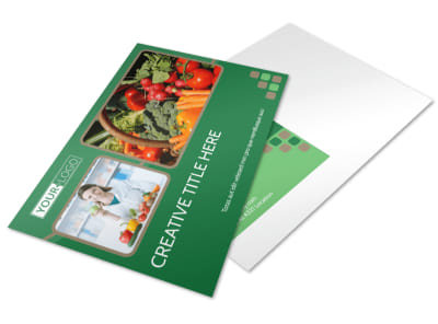 Diet & Nutrition Experts Postcard Template preview
