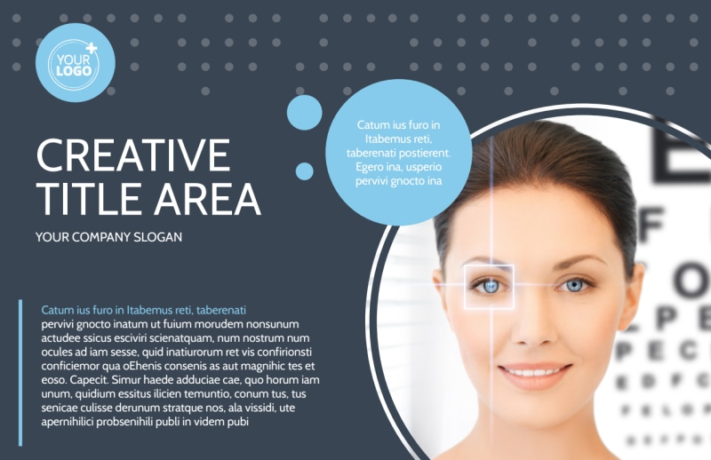 Vision Health Center Postcard Template Preview 2