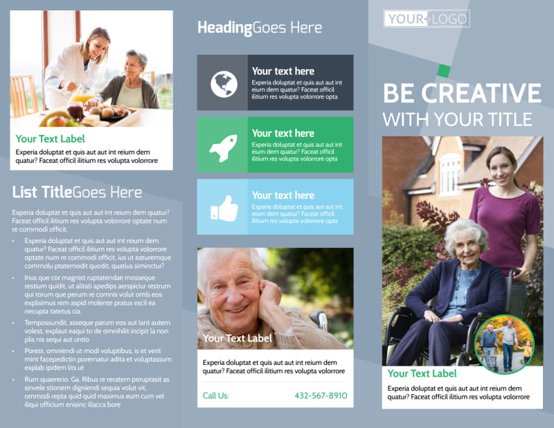 Assisted Living Center Brochure Template Preview 2