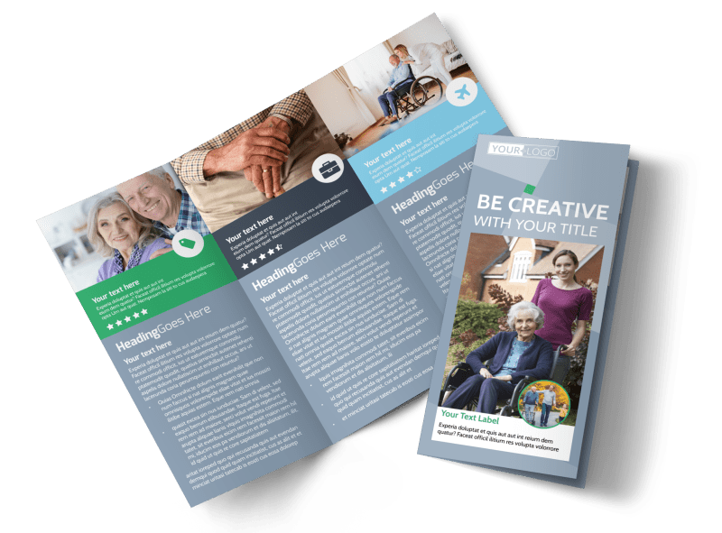 Assisted Living Center Brochure Template Preview 1