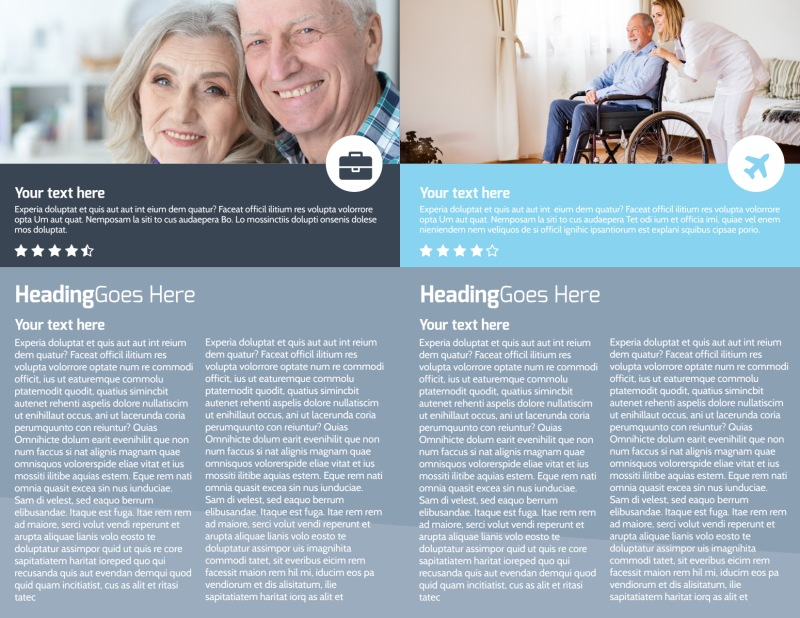Assisted Living Center Brochure Template Preview 3