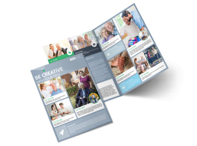 Assisted Living Center Bi-Fold Brochure Template