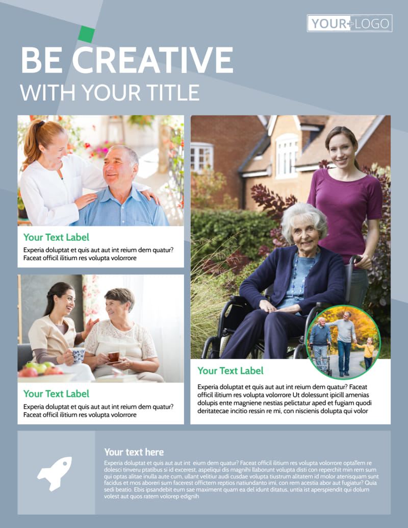 Assisted Living Center Flyer Template Preview 2
