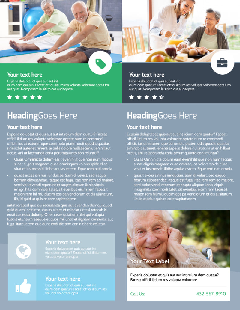 Assisted Living Center Flyer Template Preview 3