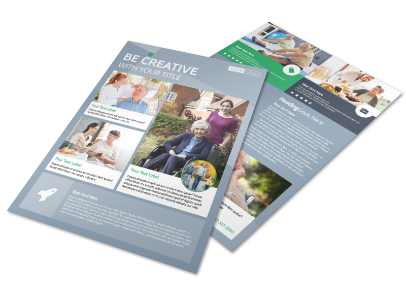 Assisted Living Center Flyer Template Preview 1
