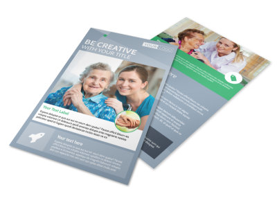 Assisted Living Center Flyer Template preview