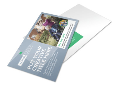 Assisted Living Center Postcard Template