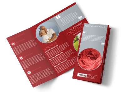 Blood Drive Tri-Fold Brochure Template preview