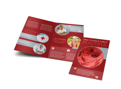 Blood Drive Bi-Fold Brochure Template