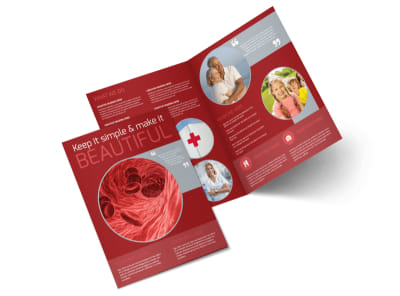 Blood Drive Bi-Fold Brochure Template preview